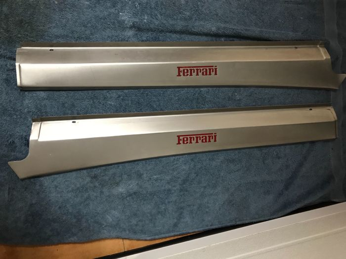 Original Ferrari 360 Modena aluminium side skirts covers (right and left)
