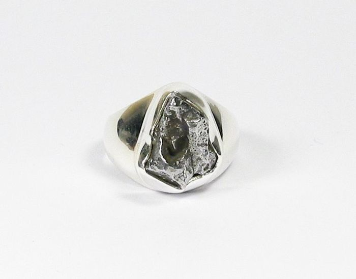 Ring with meteorite Campo del Cielo / inner diameter 17.2 mm