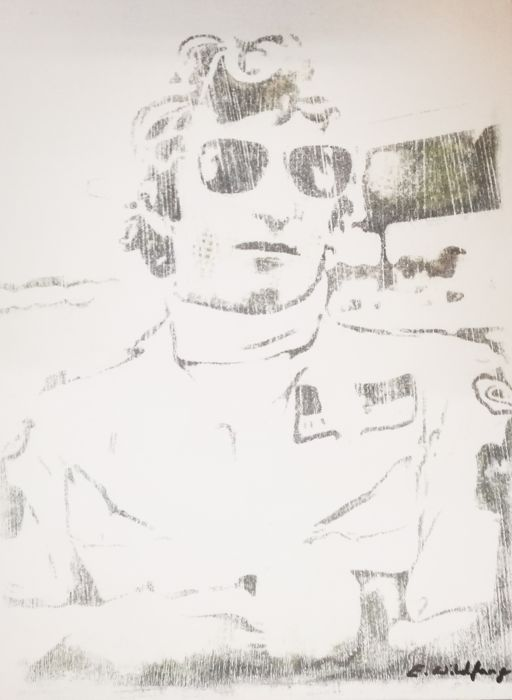 Jochen Rindt -  Original Artwork- 40 x 50 cm - By Emma Wildfang
