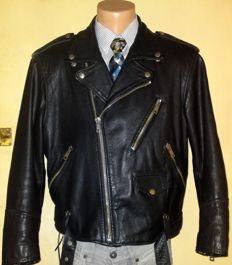 Camel - Vintage leather jacket - c.1980