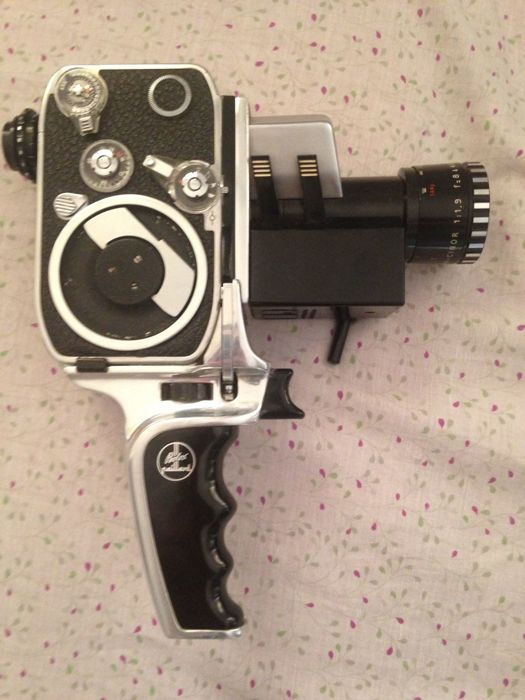 Bolex N8 film camera - SLR Zoom P1 Lens Berthiot Pan-Cinor 1.9/8-40mm