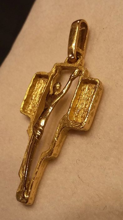 Cross, yellow gold (750/1000), 5 grams