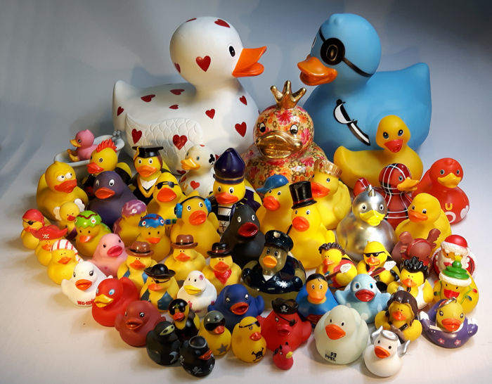 Large Collection of bath ducks Rubber Ducks Ducks Duckys 58 pieces !!!