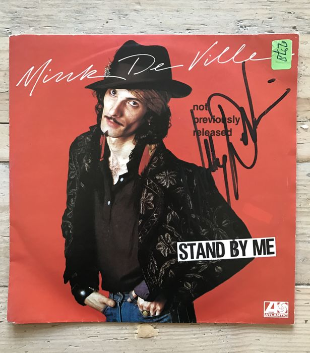 "Mink De Ville single signed by Willy DeVille - ""Stand by Me"""