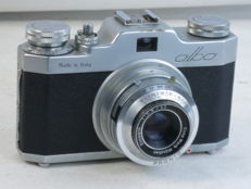 GAMMA ALBA, 35mm viewfinder camera, 45mm/2.8 Ennagon lens, EXC+, made in Italy.