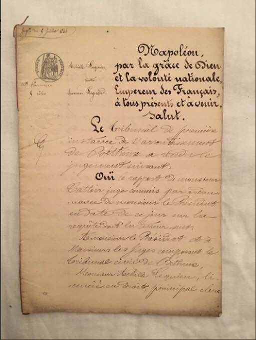 Napoleon - Official historic document of the Napoleonic period with the official seals of the Emperor