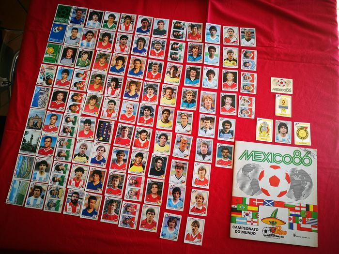 Panini + Morumbi - WC Mexico 86 - Empty album Portuguese version + 104 unused original stickers.