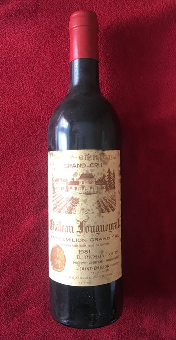 1981 Chateau Fougueyrat, Saint-Emilion Grand Cru - 10 bottles