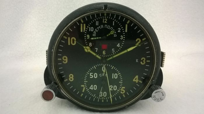 Aviation watches АЧС- 1 № 55609 pilot for the fighter MiG (СССР/USSR). At the end of the 20th century.