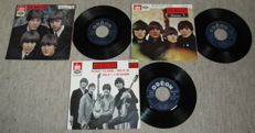 Beatles - Set of 3 original 1960's EP's 45 records from France export release for Belgium