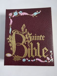 1 bound 995 pages Bible Leather illustrated.