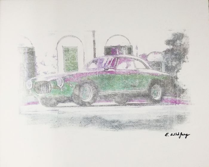 Ferrari 212 -  Original Artwork- 40 x 50 cm - By Emma Wildfa