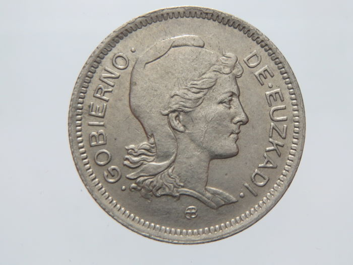 Spain - Government of Euzkadi - 1 Peseta 1937