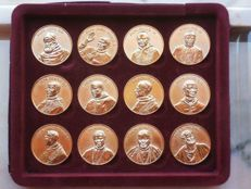 12 apostolos and  popes  gold-plated medals