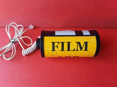 "Film roll shaped telephone ""Film"" - 1970-1980 - Italy - rare advertising item"