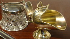 Two really beautiful silver plated sugar bowl