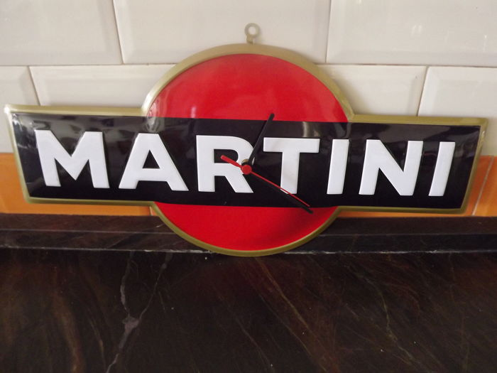 MARTINI,Enamel Tin Sign wall clock.