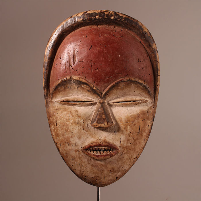 Expressive Bwiti Mask of the Tsogho, Gabon