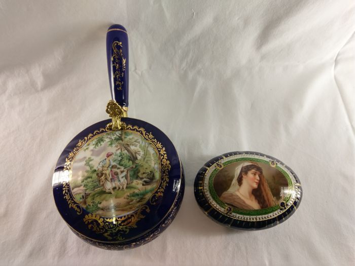 Ernst Wahliss Art Nouveau Porcelain and Vienna porcelain Trinket Boxes