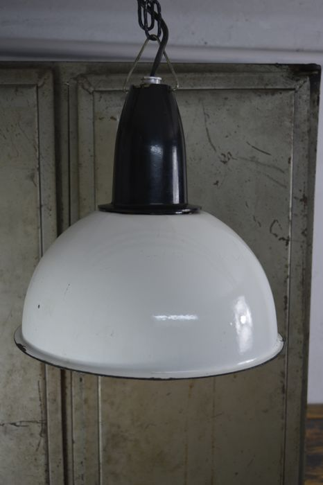 Soviet Union industrial enamelled lamp