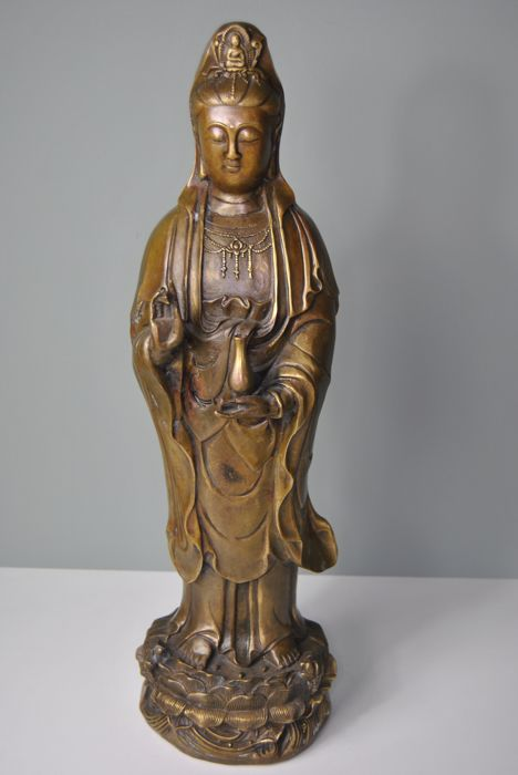 Bronze Kwan Yin - China - 2nd half 20th century (49 cm)
