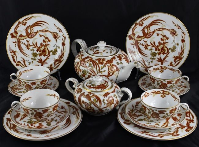 Rosenthal, Art-Deco Tea Service 30's Paradise Bird 15 pieces
