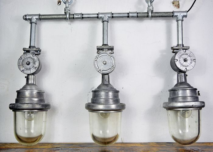 Unknown designer - Soviet Union industrial lamps
