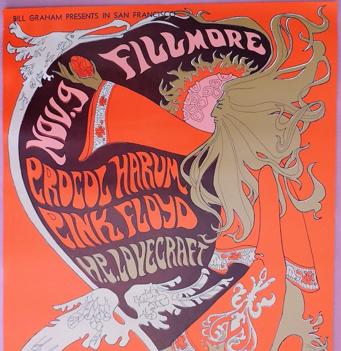 Pink Floyd San Francisco 1967 Winterland and Fillmore Poster