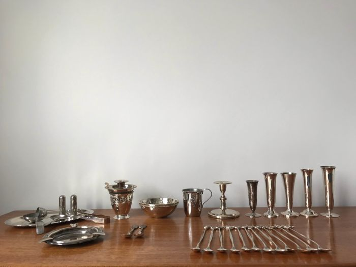Lot of 30 Silver plated objects