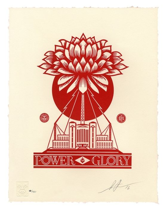 Shepard Fairey (OBEY) - Power & Glory Letterpress