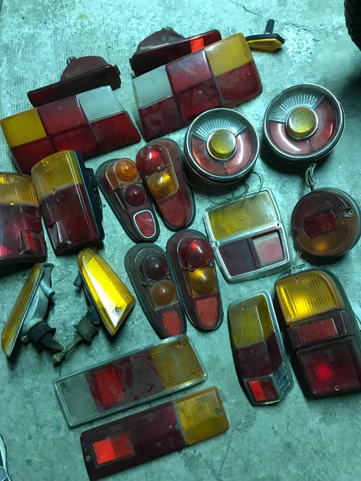 Lot of classic car taillights