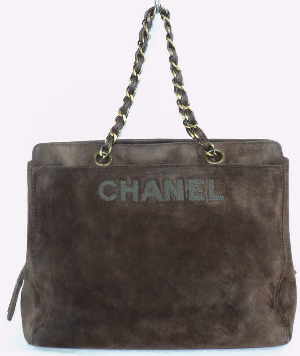 Chanel - Brown Doblis Suede  Shoulder bag - Vintage