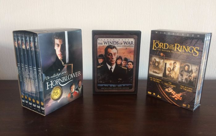 Lord of the Rings, The Winds of War and Hornblower dvd box sets