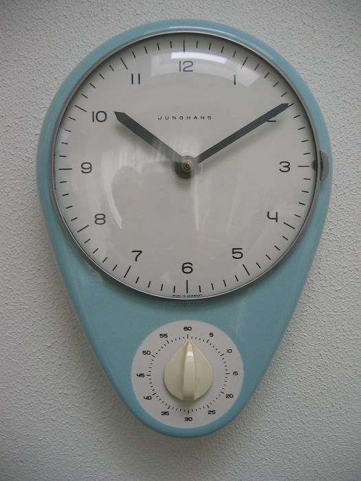 Max Bill for Junghans - kitchen clock with timer