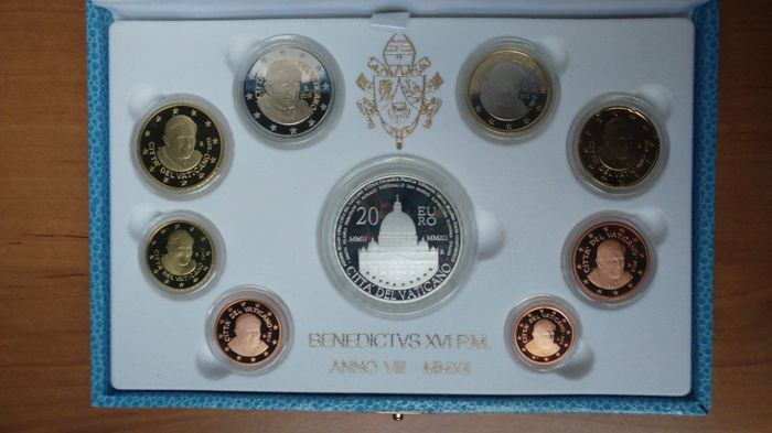 Vatican Euro Coinset 2012 Proof – with 20 Euro silver coin