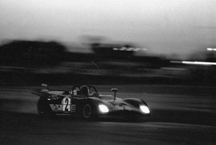 Sebring u bend at sunset Ferrari 312P -72 Andretti & Ickx Winning Car Photograph