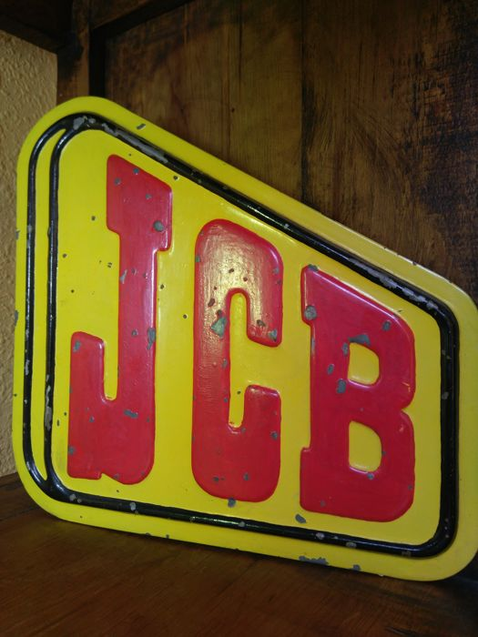 Very rare poster of JCB machinery 20th century. France