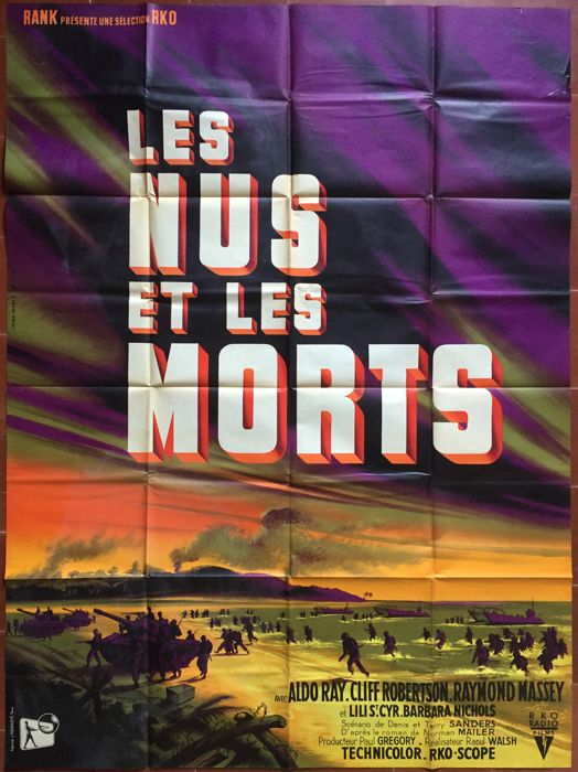 Jean Mascii - Les Nus et les morts / The Naked and the dead (Raoul Walsh, WWII) - 1958