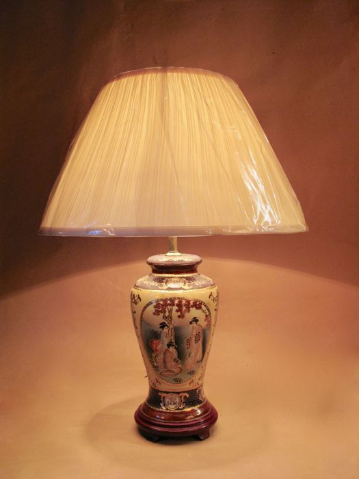 Japanese Satsuma Table Lamp - Japan - second half 20th century
