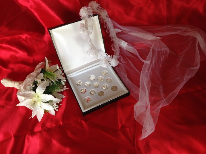 Biblical Marriage Coins, sterling silver 925, and details
