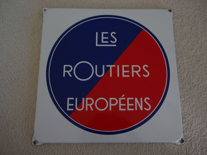 Emaille bord Routiers