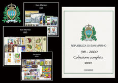 San Marino, 1981-2000 - Ordinary mail complete collection - 21 years of issue