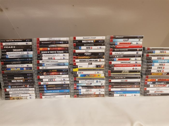 96 Playstation 3 games like Overlord, Homefront etc