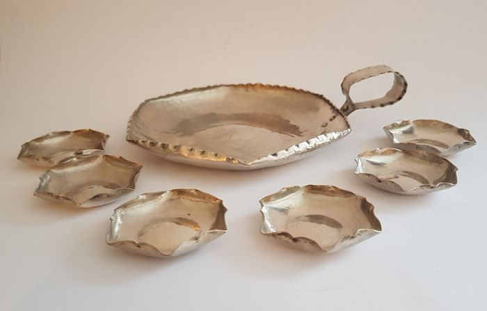 Silver plated petit four set