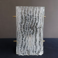Designer unknown - Glass wall light