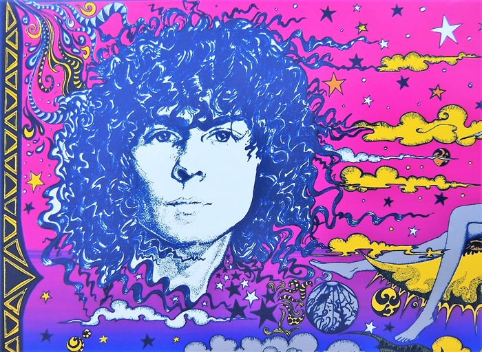 "T. Rex ""Mark Bolan""  Psychedelic Head Shop Poster"