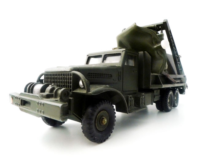 Dinky Toys-France - Scale 1/50 - Ref. 884 Military  truck US WW2 GMC Brockway bridge layer