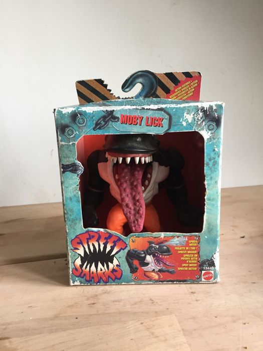 Street Sharks Moby lick action figure in box - 1994 - Mattel