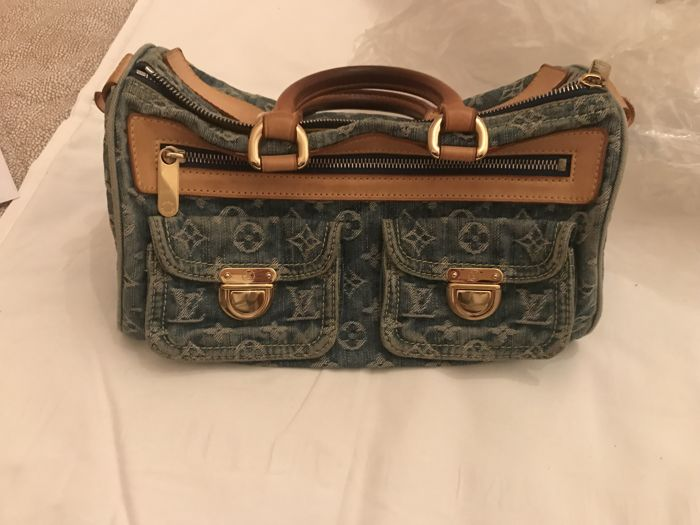 Louis Vuitton - Blue Denim Monogram Denim Neo Speedy Handtasche