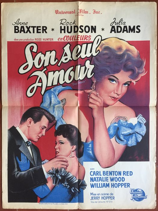 Anonymous - Son seul amour / One Desire (Rock Hudson, Anne Baxter) - 1955